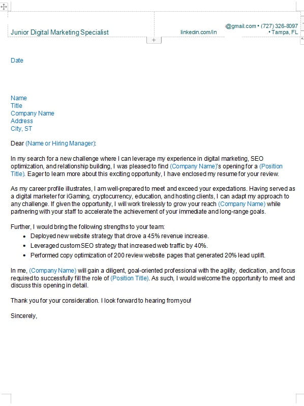 cover letter by zipjob